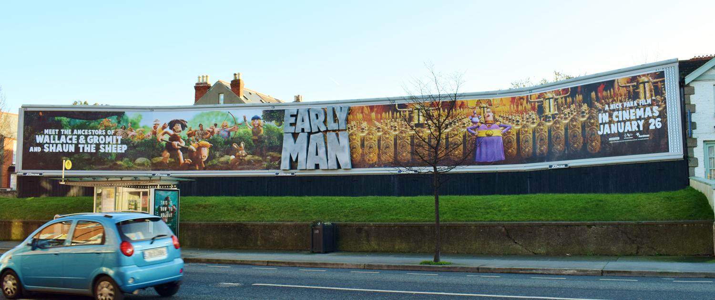 Early Man 240 Sheet Billboard Special