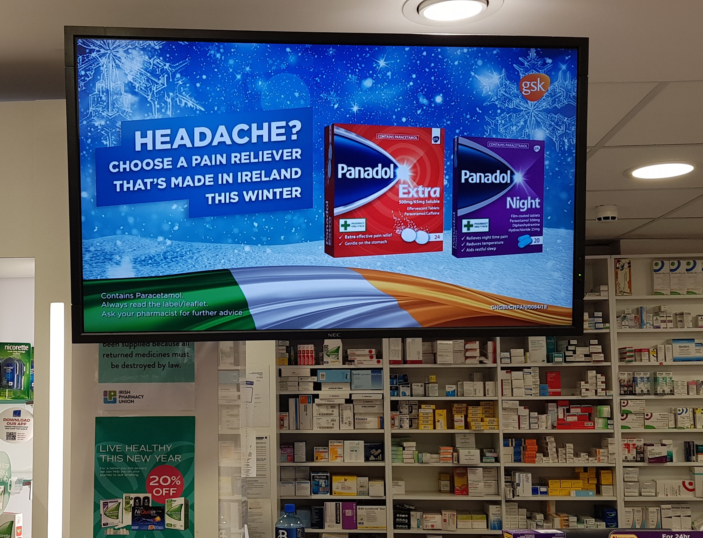 PANADOL HEADS TO PHARMASEEN TV