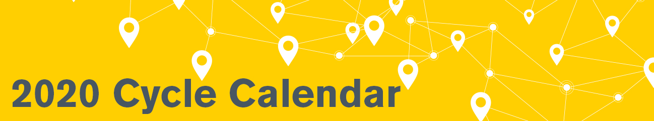 2020 Cycle Calendar banner to access pdf