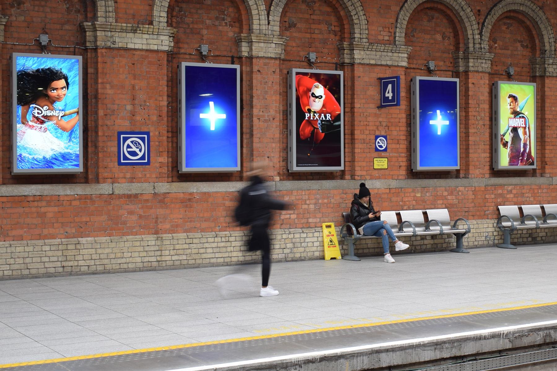 Disney+ Digital Screens in Connolly Station