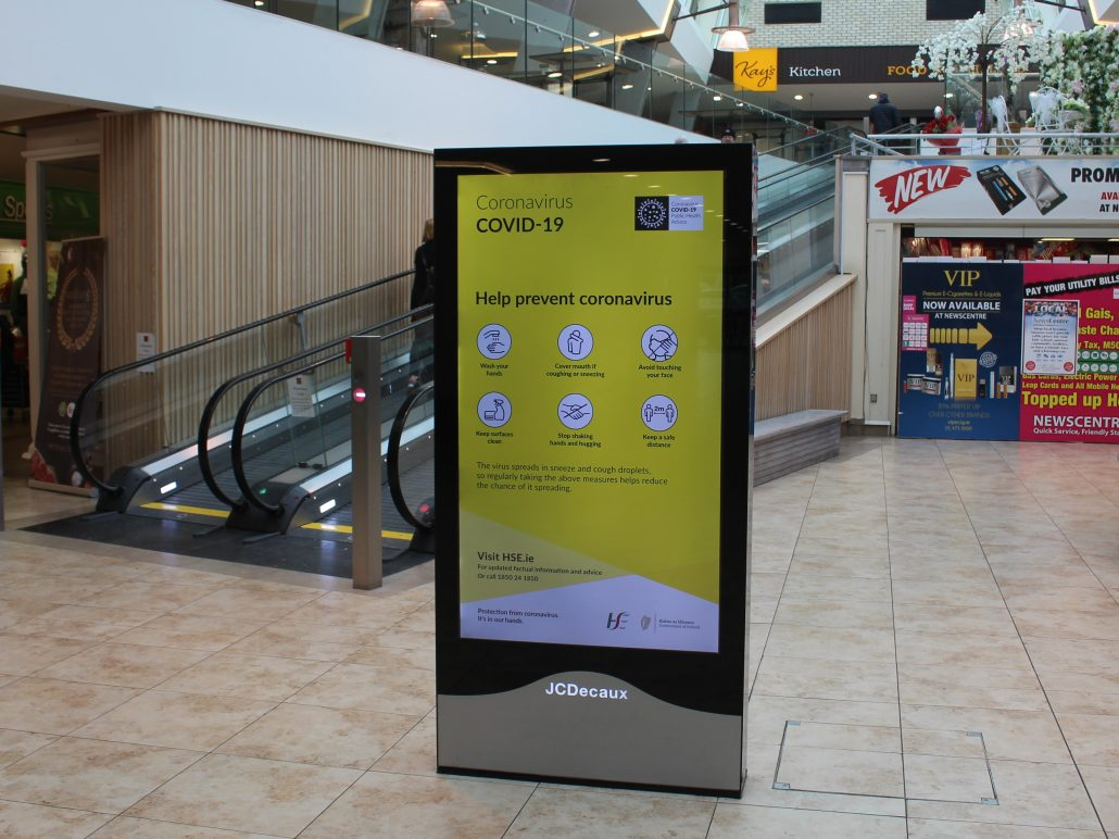 HSE Digital campaign raising awareness for Covid-19  used as part of Now Near Next: The Latest view from OOH