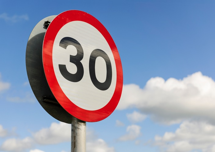 Speed Sign for 30km