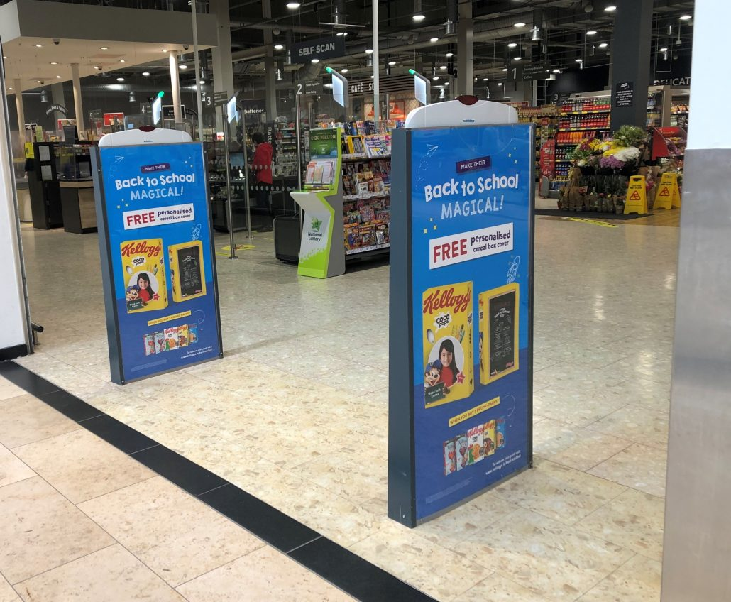 Kelloggs Back to School Storepoints outside Dunnes