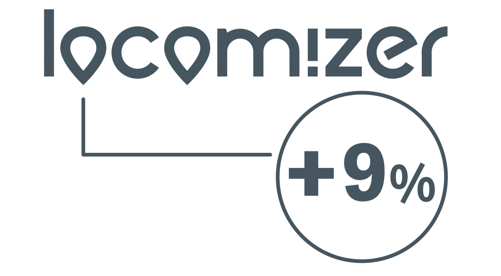 Locomizer showing an increase of 9%